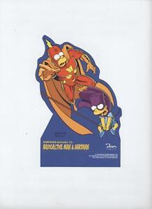 SIMPSONS-AUFSTELLER # 1 - RADIOACTIVE MAN & BARTMAN - DINO VERLAG 1996 - TOP