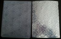 Sizzix Large Embossing Folder FLOWERS SWIRLS DOT fit Cuttlebug 4.5x5.75in