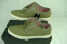 New Mens 11.5 DC Studio LE Army Green Leather Skate Shoes  $75