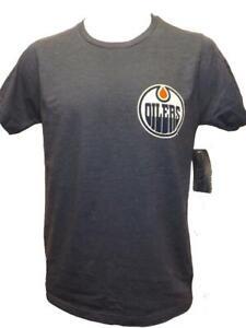 New Edmonton Oilers Hockey Mens Sizes S-M-L-XL-2XL Blue 2-Sided G-III Shirt
