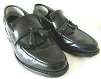 Samuel Windsor Smart Black 100% Leather Hand Made Mod Loafers Shoes - UK - 8