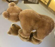Vintage Schuco or Steiff Mohair Light Brown Crawling or Walking Bear
