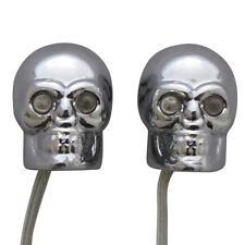 Silver Skulls with Red Eyes Car Decoration Interior Lights Lighter Plug 12V