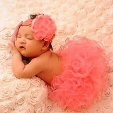 Cute Baby Crochet Photo Clothes Newborn Tutu Girls US Prop Skirt Knitted Outfits