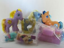 MY LITTLE PONY 2004 SPRING BASKET BUBBLECUP GARDEN GLADE WISH A WHIRL COMPLETE