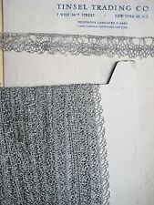 "4 yards European Silver Metallic Scallop Lace 7/8"" Trim"