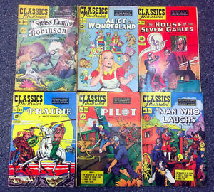 JERRY WEIST ESTATE: 10 issues of CLASSICS ILLUSTRATED (Gilberton 1947-59) VG -VF