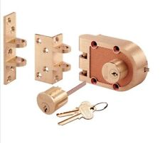 Prime-Line by Segal SE 19361 Bronze Deadlock with Double Cylinder & Flat/Angle S