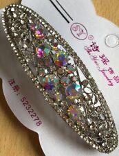 Nome personalizzato custom parola Slogan Carino Capelli Slide Clip Silver Oro Nuovo Regno Unito
