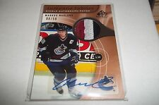 05/06 SP Game Used Markus Naslund Authentic Fabrics PATCH AUTO 08/50 !! 3 CLR