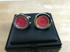 MIB Tateossian cufflinks Red optical illusion battery operated - Must see! Rare