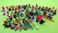Lot 56 Lego Minifigures Marvel Super Heroes Star Wars TMNT Ninjago + Accessories