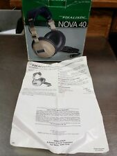 Vintage Realistic NOVA-40 Headphone Parts: Original Retail Box and Instructions
