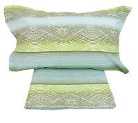 Completo di lenzuola in flanella di cotone 1 piazza e 2 piazze savoy verde