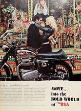 1968 BSA THUNDERBOLT 650 MOTORCYCLE-AD/PICTURE/PRINT 66 67 GROOVY HONDA HARLEY