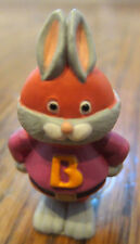 "Hallmark Merry Miniatures 1993 Superhero Bunny Rabbit ""B"" Costume"