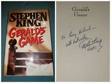 Stephen King GERALD'S GAME 1st printing SIGNED & INSCRIBED Great Condition!!