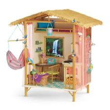 American Girl Lea RAINFOREST HOUSE table chair lantern blanket mattress hammock