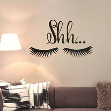 Lovely Beautiful Shh Eyelash Wall Sticker Vinyl Baby Girl Room Door Decal Decor