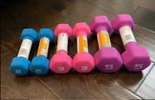 CAP Neoprene Hex Dumbells (SET of 5, 3, and 2 lb. pairs) NEW. FREE SHIPPING