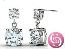 "Jasmine ""Immortal""18k white gold plated STERLING Swarovski earrings CLOSING SALE"