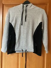 Euro size small Zara Trafaluc grey hooded top with mesh panels