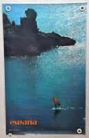 "Vintage 1980s Spain Travel Poster ""Espana Menorca - Islas Baleares"" 24 x 39"
