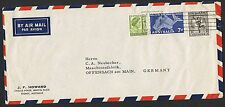 1/6d Hermes, 7d RFDS & 1d defin on 1958 airmail cover to Germany AN42