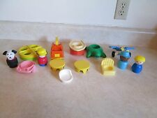 Fisher Price furniture, merry go round, boat,tow truck, air plane dog 14 pc!!
