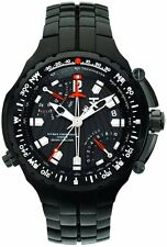 NEW-TX 700 SERIES BLACK TONE,SPORT FLY BACK,DUAL TIME ZONE,CHRONO WATCH T3B851