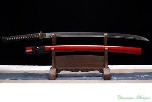 Crucible Melting High Carbon Steel w Clay Tempered Japanese Sword Katana #3433