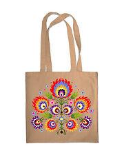 Bolsa De Compras Eco Friendly Folk Estampado Floral comprador Bolso Playa Hombro Bolso