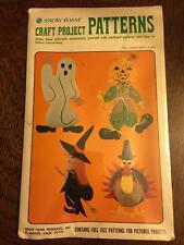 Vintage Snow Foam CRAFT PROJECT PATTERN Fall Assortment #P-540, NEW Turkey Witch