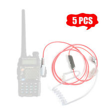 2 PIN Pink cable walkie talkie Earpiece For two way radio Baofeng UV-5R TG-UV2