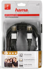 Hama CAT 6 LAN Netzwerk DSL Kabel Netzwerkkabel STP 3 Meter abwärtskompatibel 5