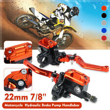 7/8'' Motorcycle Master Cylinder Hydraulic Brake Pump Clutch Levers Reservoir