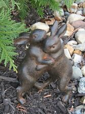 Hugging BUNNY Rabbits Sculpture*Primitive/French Country Urban Farmhouse Decor