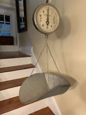 Vintage Detecto Hanging Scale with Galvanized Scoop Series 26S - 20 Lb. Capacity