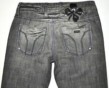 Miss Sixty Women's Eden Gray Factory Distressed Straight Dirty Jeans 24 X 30 EUC