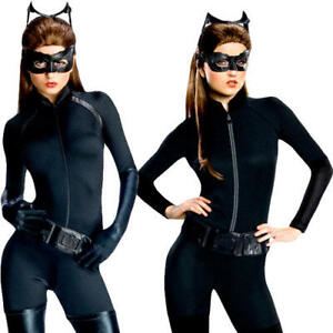 Catwoman Ladies Fancy Dress Batman The Dark Knight Superhero Adults Costumes New