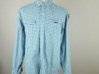 Vineyard Vines Men's Sz XL Harbor L/S Fishing Seersucker Plaid Vented Shirt
