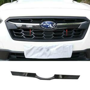 For Subaru XV Crosstrek 2018-2020 S.steel Carbon Front Center Grille Cover Trim