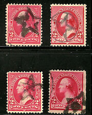 ~ Selection of US Classic Postage Stamps w/Attractive 1800s Fancy Cancels ~