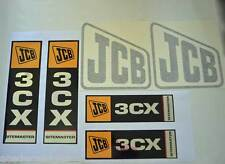 JCB Decals 3CX Stickers 3CX Decal Kit Backhoe Loader Chrome Decal Set