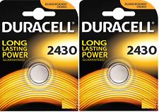2 Batterie Pile DURACELL 2430 CR 2430 ECR K2430L LF-1/2W L20 5011LC