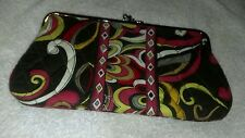 LARGE  VERA BRADLEY PUCCINI DOUBLE KISS LOCK CLUTCH WALLET ~Pretty