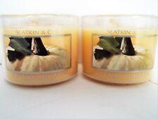 Bath Body Works Slatkin Co. CREAMY PUMPKIN Candles, Mini, 1.6 oz., NEW x 2