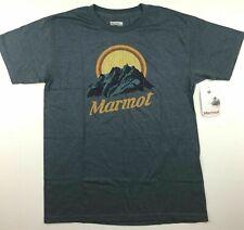 Marmot Mens Size Medium Pikes Peak Navy Heather Short Sleeve Tee T Shirt Nwt New