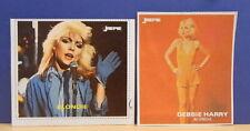 2x Sticker - aufkleber Joepie / Debbie Harry - BLONDIE with org.back 80's (1226)