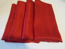 """4 Red Beautiful Dinner Napkins,  Dinner Party, Size 16""""x16"""""""